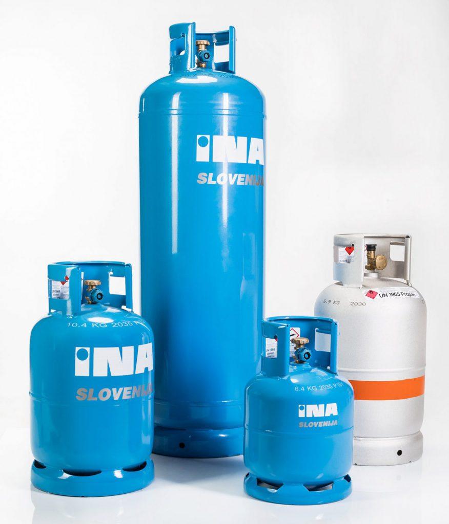 jeklenka za plin INA Slovenija